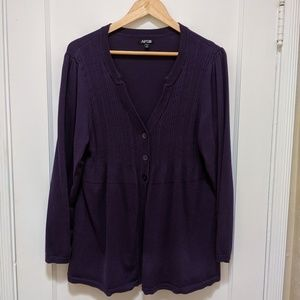 Apt. 9- Button front long sleeve cardigan sweater
